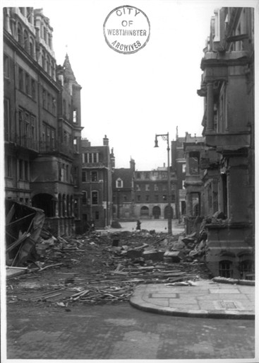 Photo:Balfour Place damage as viewed from Alford Street W1, April 1941